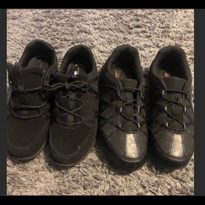 Shoes - TWO PAIRS!!!! Nonslip non skid black work shoes